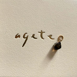 アガット(agete)のagete アガット スモーキークォーツ 片方のみ ピアスチャーム k10(チャーム)