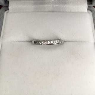 ラザール ダイヤモンド ベルヴェデーレリング Pt950 0.06ct 3.3g(リング(指輪))