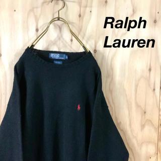 POLO RALPH LAUREN - 【美品】POLO by RALPH LAUREN ローゲージニット ブラック