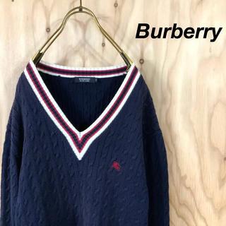 BURBERRY BLACK LABEL - Burberry Black label チルデンニット ケーブル アイビー