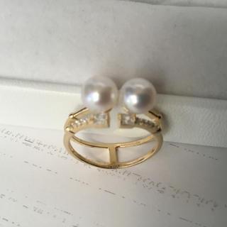 【湖水本真珠★ダイヤ入り★シルバー】リング(リング(指輪))
