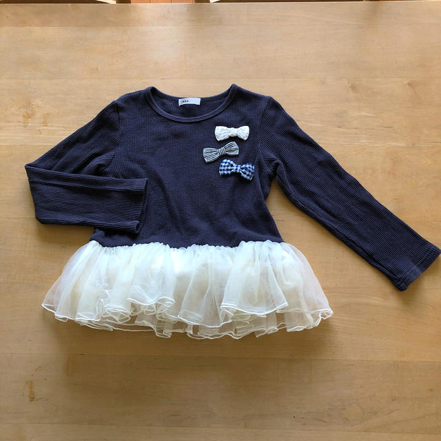 ikka(イッカ)のikka 110cm チュチュカットソー キッズ/ベビー/マタニティのキッズ服女の子用(90cm~)(Tシャツ/カットソー)の商品写真