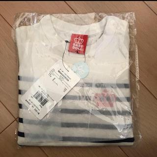 ベビードール(BABYDOLL)のBABYDOLL ボーダー7分丈Tシャツ サイズ80(Tシャツ)