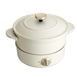 イデアインターナショナル(I.D.E.A international)のBRUNO グリルポット BOE029-WH【ホワイト】(調理機器)