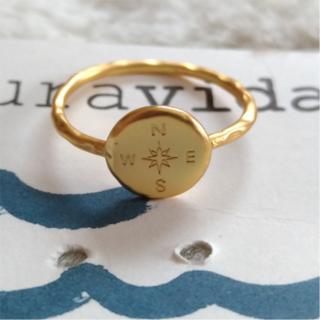 【訳アリ品】Pura vida リング 指輪 コンパス US 6 金色 A(リング(指輪))