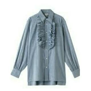 Drawer - BLAMINK ブラミンク ダンガリー ラッフル フリル シャツ ブラ
