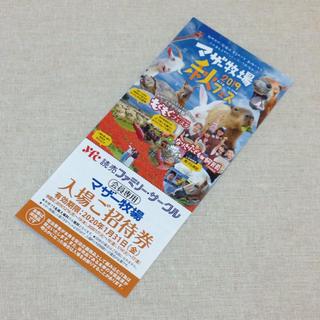 マザー牧場 招待券 1枚 割引券 優待券 クーポン チケット 入場無料 バラ売り(遊園地/テーマパーク)