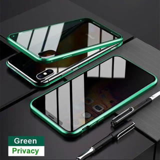 アイフォーン(iPhone)のスカイケース マグネット式 強化ガラス アイフォン バンパー 360度(iPhoneケース)