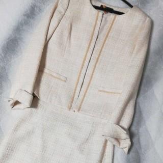 INDIVI - 美品 インディヴィ ツイードジャケット スカート セット フォーマルスーツ