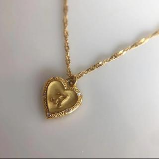 AHKAH - アーカー ブラン K18YG ダイヤモンド イニシャル ネックレス