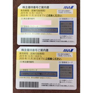 ANA(全日本空輸) - ANA 全日空 株主優待番号ご案内書  2枚