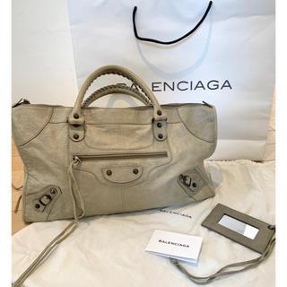バレンシアガバッグ(BALENCIAGA BAG)のバレンシアガ エディターズバッグ ワーク グレージュ BALENCIAGA(ハンドバッグ)
