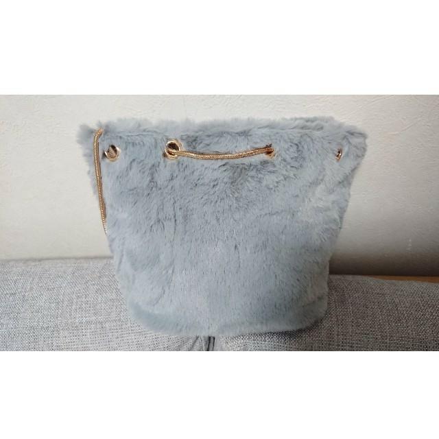 fifth(フィフス)のfifth エコファー スクエア バッグ グレー レディースのバッグ(ショルダーバッグ)の商品写真