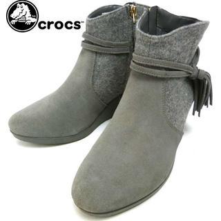 クロックス(crocs)のCROCS クロックス サイドジップ スエードブーツ W7(23cm相当)(ブーツ)