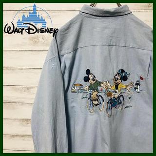 Disney - 激レア!90sディズニー★ 刺繍 ミッキーミニーシャツ ビッグサイズ