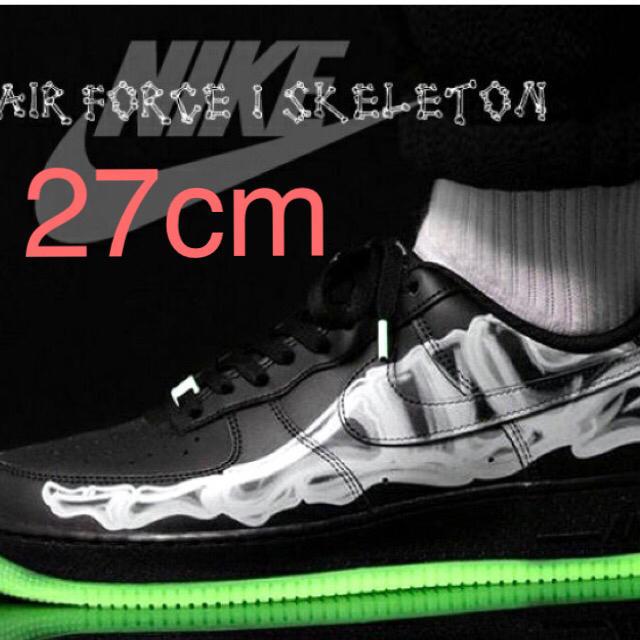NIKE(ナイキ)のエアフォース1スケルトンNIKE AIR FORCE 1 SKELETON メンズの靴/シューズ(スニーカー)の商品写真