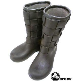 crocs - CROCS クロックス レインブーツ W6(22cm相当)(レディース)【中古】