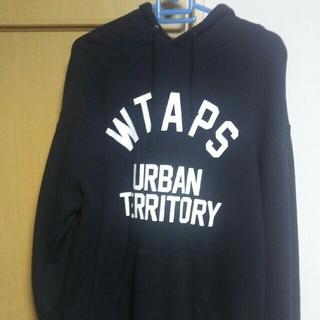 ダブルタップス(W)taps)の18AW WTAPS URBAN TERRITORYロゴパーカー 黒 M 美品(パーカー)