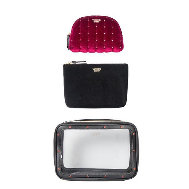 Victoria's Secret(ヴィクトリアズシークレット)の新品Victoria'ssecretヴィクトリアシークレットポーチ3点セット レディースのファッション小物(ポーチ)の商品写真