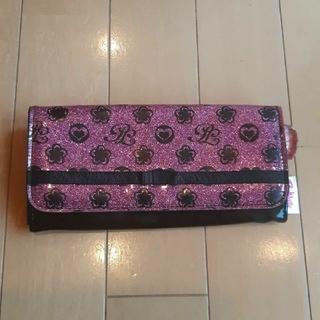 ピンクラテ(PINK-latte)のピンクラテpinklatte黒×ピンクエナメル長財布(財布)