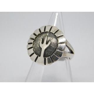 ホピ族 シルバー リング8号 インディアンジュエリー 指輪(リング(指輪))