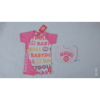 ベビードール(BABYDOLL)のBABY DOLL / 新品未使用タグ付き / 半袖ロンパース スタイ セット (ロンパース)