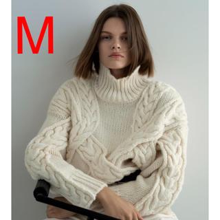 ZARA - 新品 M ザラ オーバーサイズ仕様 ケーブルニットセーター