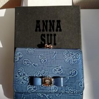 アナスイ(ANNA SUI)の【美品·未使用】ANNASUI(アナスイ) <ネイル>口金がま口二つ折り財布  (財布)
