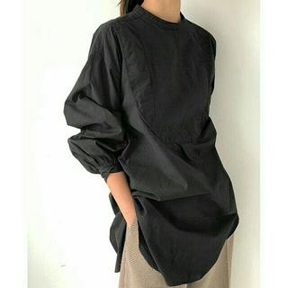 TODAYFUL - 【新品タグ付】TODAYFULVintageドレスシャツ トゥデイフル黒ブラウス