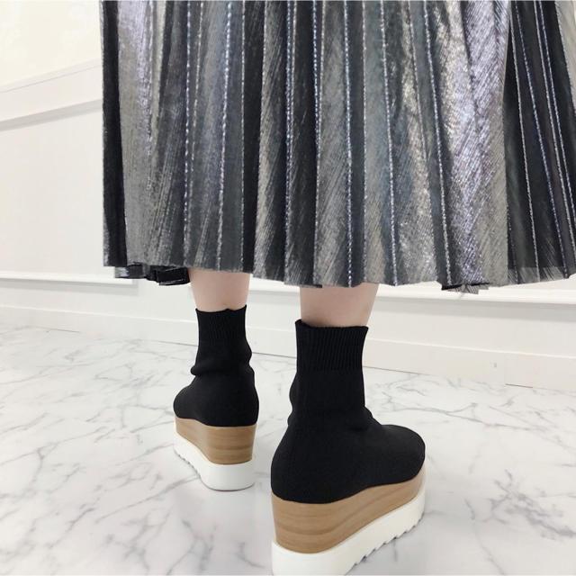 Lochie(ロキエ)のマイバレンタイン  ソックスブーツ レディースの靴/シューズ(ブーツ)の商品写真