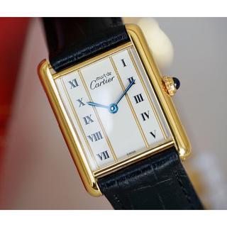 Cartier - 美品 カルティエ マスト タンク ゴールドライン ローマン LM Cartier