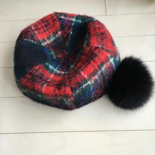 CA4LA - カシラ チェック ベレー帽