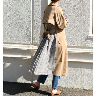 natural couture - 新品 ナチュラルクチュール バックプリーツトレンチ