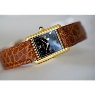 Cartier - 美品 カルティエ マスト タンク ブラック ローマン SM Cartier