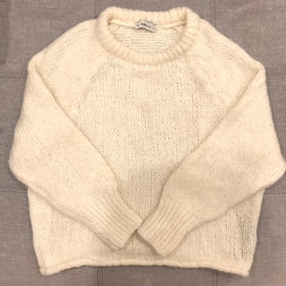 ZARA - 美品❣️ ZARA ザラ ラウンドネックセーター 白色