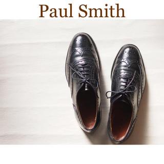 Paul Smith - 【美品 定番】Paul Smith 内羽根 ウィングチップ ブローグシューズ