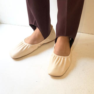 TODAYFUL - todayful Shirring Ballet Shoes 37 エクリュ