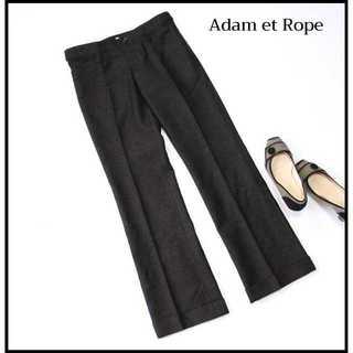 アダムエロぺ(Adam et Rope')のアダムエロペ★グレンチェック柄 ロールアップ ウールパンツ 38(M) 灰(カジュアルパンツ)