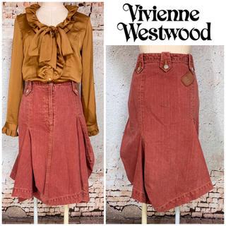 Vivienne Westwood - ヴィヴィアンウエストウッド オーブパッチ付 変形デニムスカート