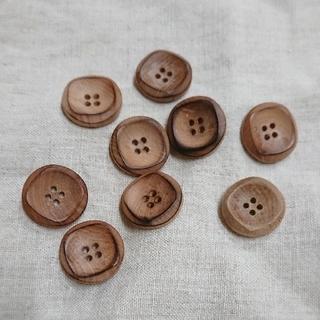 ウッドボタン 四つ穴 20mm used セット・個数指定可(各種パーツ)