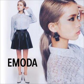 EMODA - EMODA ペールカラー レース シャツ ブラウス♡MURUA リップサービス