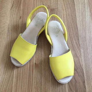 UNITED ARROWS - 美品 スカSKAAVARCA ジュートヒールサンダル 黄色イエロー 37 24