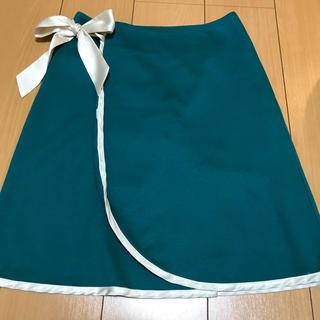 秋冬 グリーン 巻きスカート サイズ1(ミニスカート)