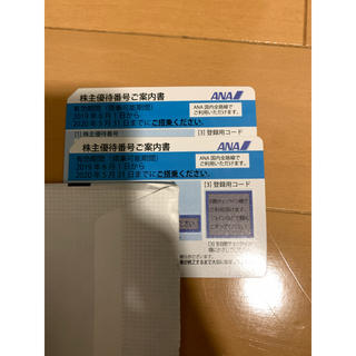 ANA(全日本空輸) - ラクマパック送料無料 ANA 全日空 株主優待券 2枚