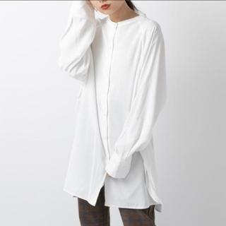 mystic - mystic BACKリボンロングシャツ オフホワイト