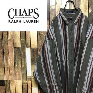 Ralph Lauren - 【激レア】チャップスラルフローレン☆ロゴタグレトロマルチストライプシャツ 90s