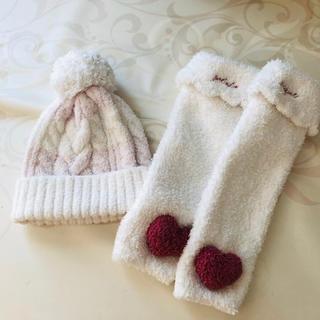 gelato pique - Babyジェラートピケ ニット帽ニット帽 白 ピンク 女の子 ベビー
