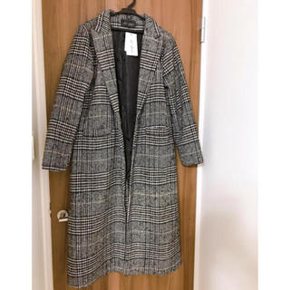 dholic - タグ付き チェックコート ロングコート 韓国 オルチャン
