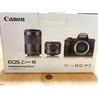 Canon - Canon EOS KISS M ダブルズームキット【白】