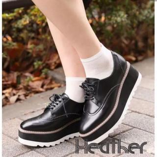ヘザー(heather)のHeather厚底シャークソールマニッシュ(ローファー/革靴)